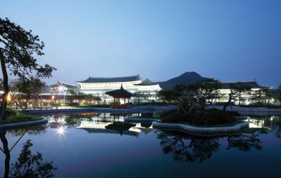 경상북도 신도청 야간 전경